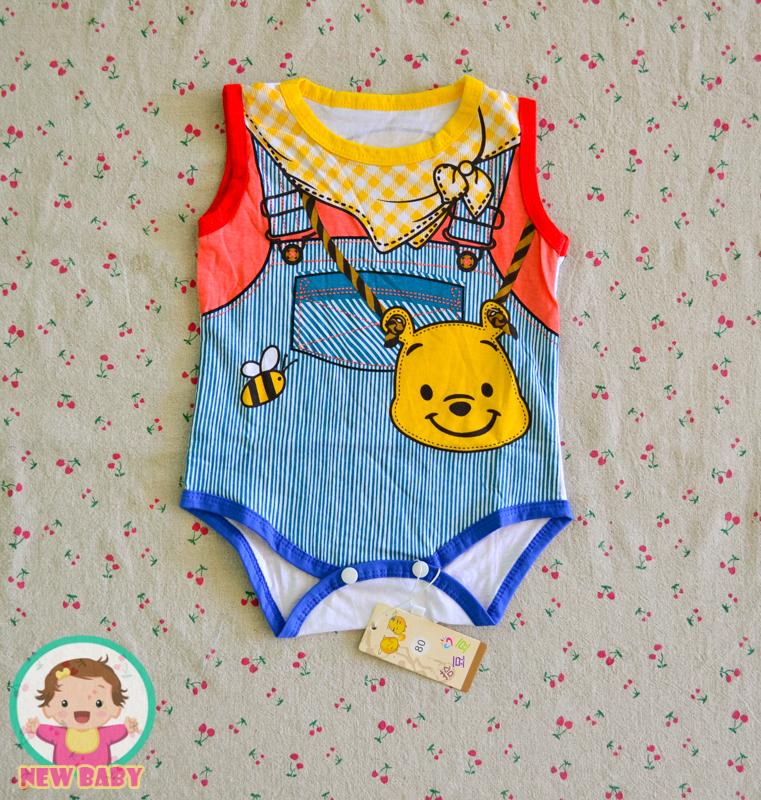 ไซส์ 6-9,9-12 เดือน บอดี้สูทเด็กลายหมีพู จะเด็กผู้หญิงหรือเด็กผู้ชายใส่ก็น่ารัก