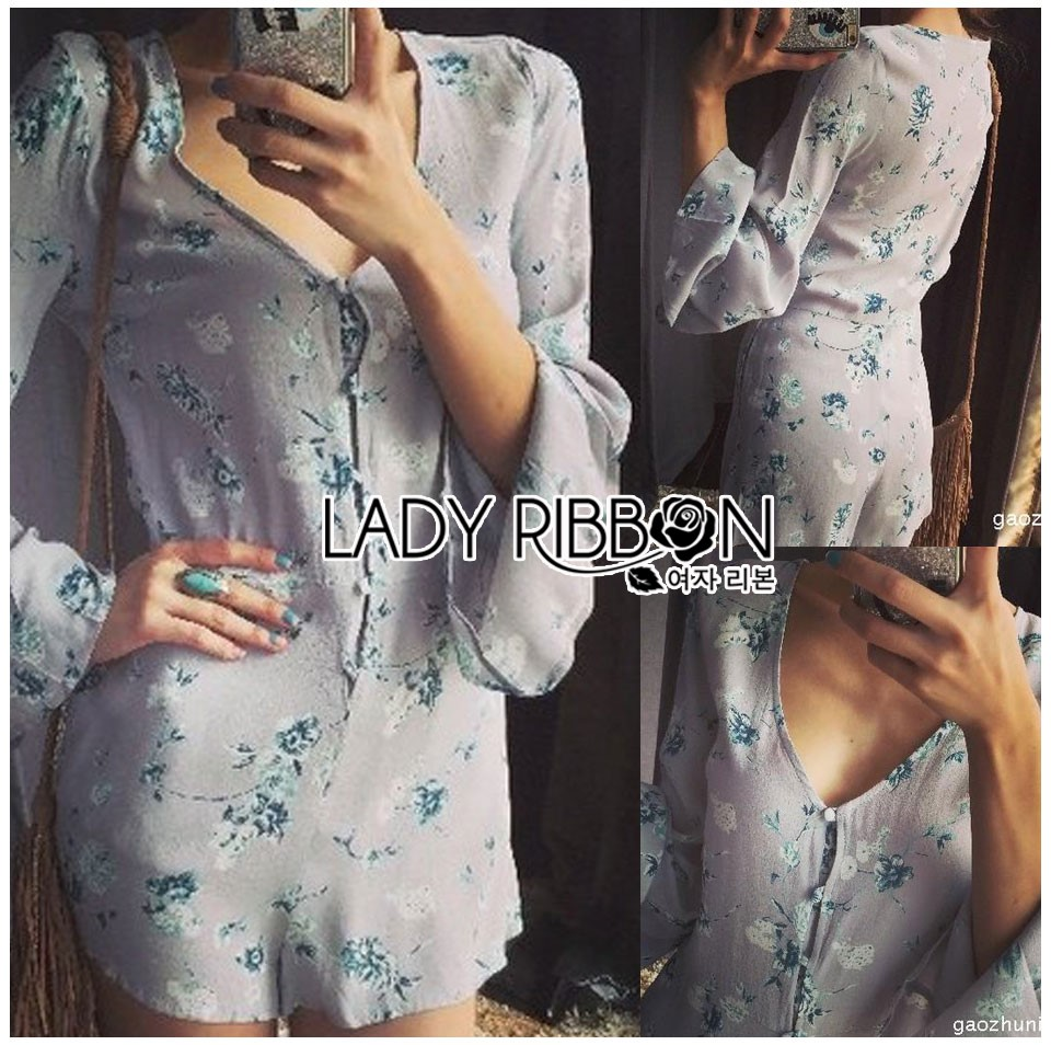 Lady Linzi Sexy Playful Floral Printed Polyester Playsuit L273-6910