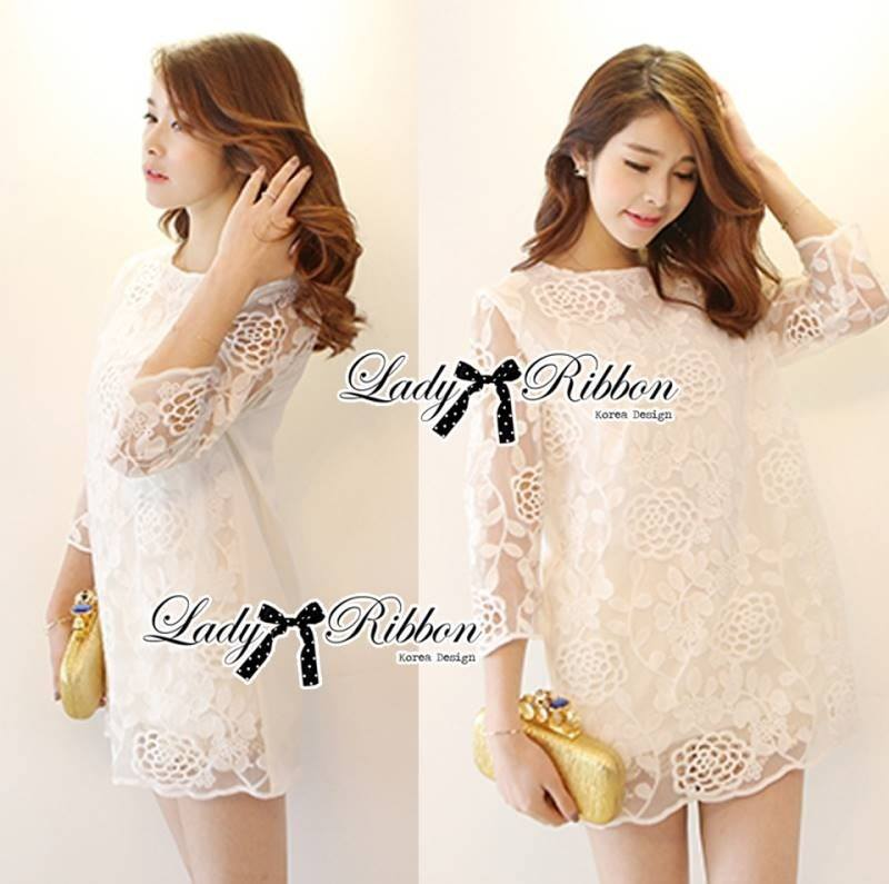 Lady Melanie Elegant Camelia White Organza Dress