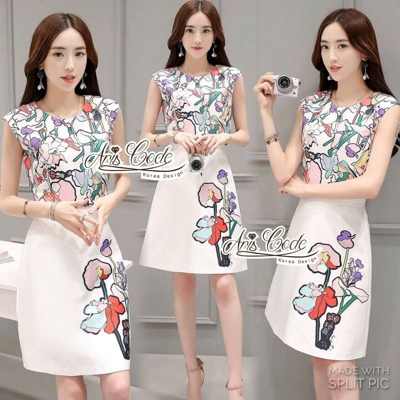 Korean lady Two-piece flower by Aris Code