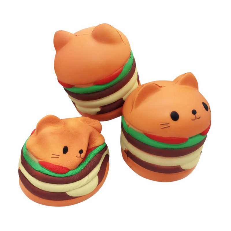 สกุชชี่ แมวแฮมเบเกอร์ Squishy Cat Hamburger หอม นุ่ม สโลว์ๆ