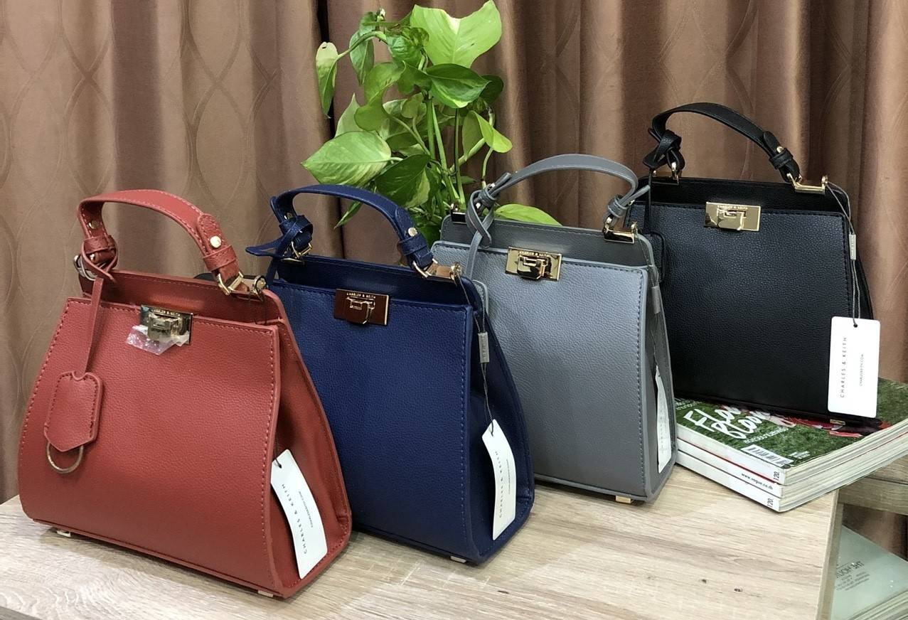 Charles & Keith Push-Lock Handbag