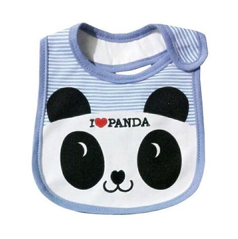 ผ้ากันเปื้อน Lastest Kids ลายแพนด้า สีฟ้า