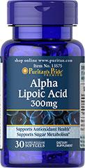 Alpha Lipoic Acid 300 mg 30 Softgels