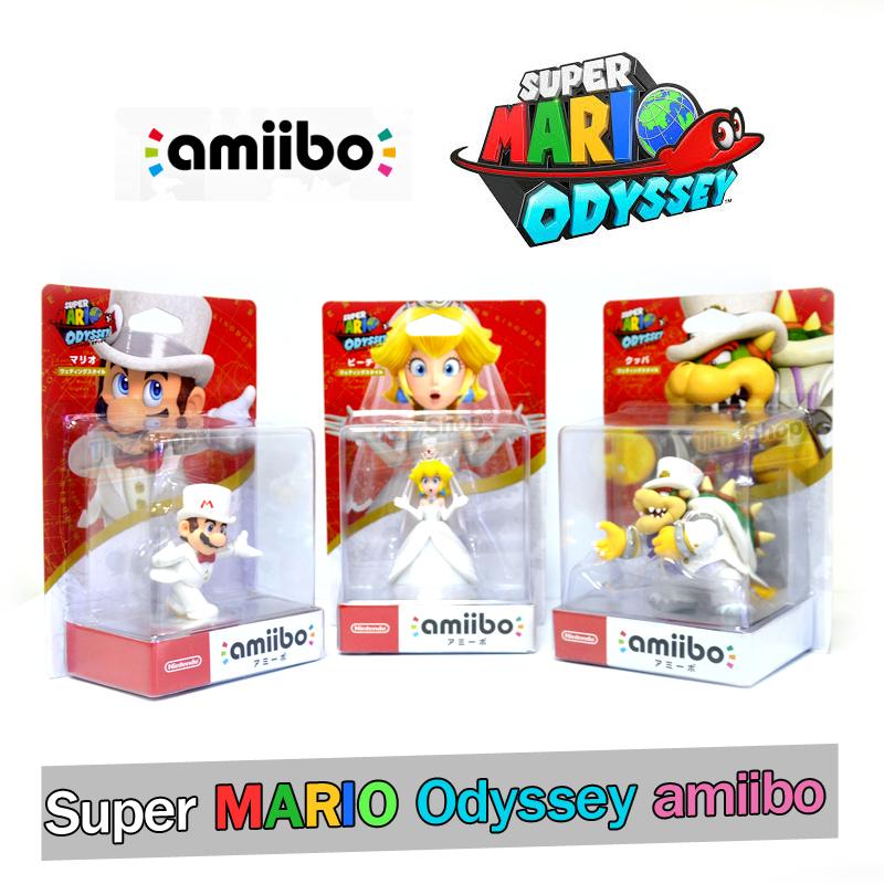 อมีโบชุดพิเศษ 3 ตัว ++ Amiibo Super Mario Odyssey Series Figure (Triple Pack - Wedding Outfit) ราคา 2290.- *ส่งฟรี