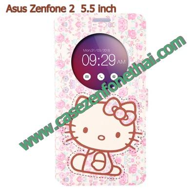 เคสzenfone 2 5.5 ze550ml/ze551ml ฝาพับ flip cover คิตตี้ kitty