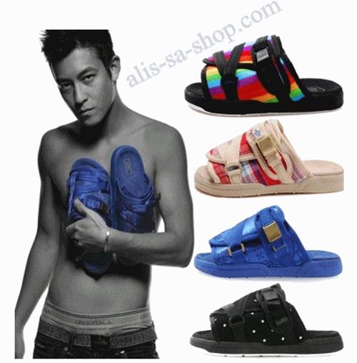 แฟชั่นรองเท้าแตะชาย เอดิสัน รองเท้าแตะ สีฟ้าลายสก๊อต ไซส์ 44