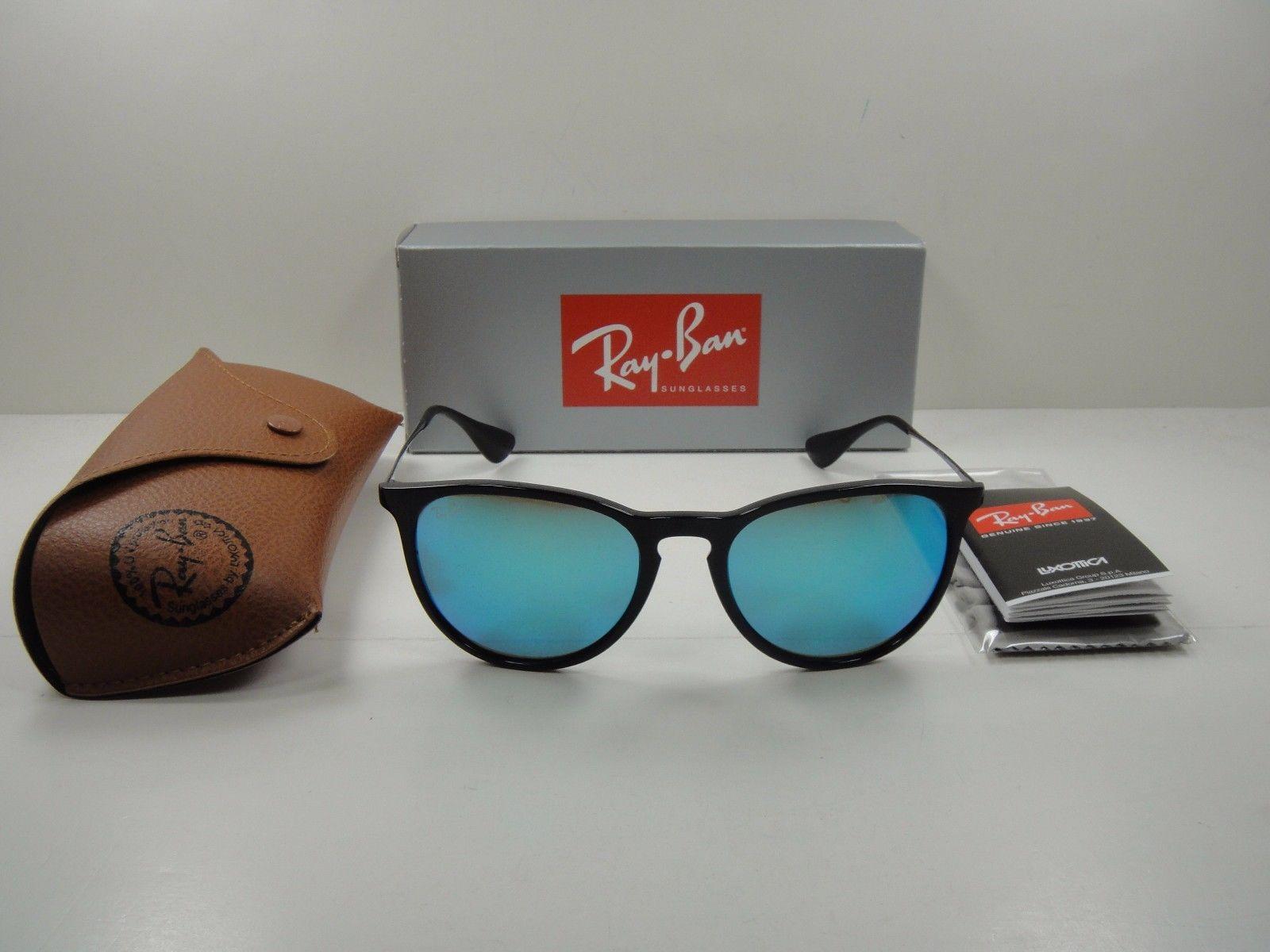 Ray-Ban Erika RB4171 601/55 Black Frame/Blue mirror lenses
