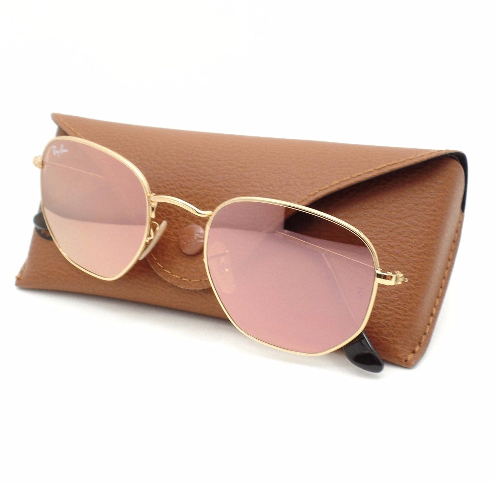 Ray Ban RB3548N 001/Z2 hexagonal Pink Gold