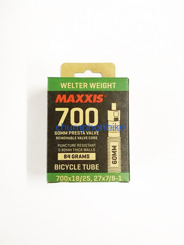 ยางในเสือหมอบ MAXXIS 700x18/25 จุ๊บยาว60mm
