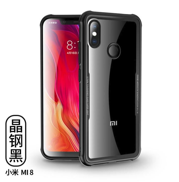 เคส Xiaomi Mi8 TPU + PC Acrylic สีดำ