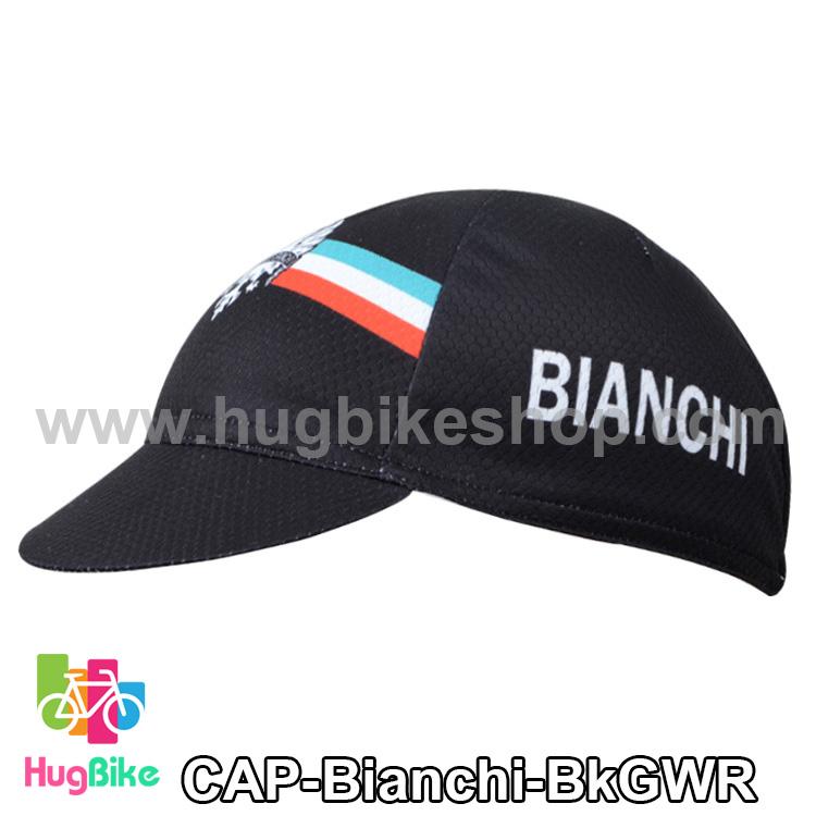 หมวกแก๊บ Bianchi 14 (02) สีดำเขียวขาวแดง