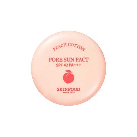 SkinFood Peach Cotton Pore Sun Pact SPF42 PA+++ 9g [No.1:ผิวขาว]