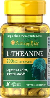 ช่วยผ่อนคลาย บำรุงสมอง L-Theanine 200 mg 30 Capsules