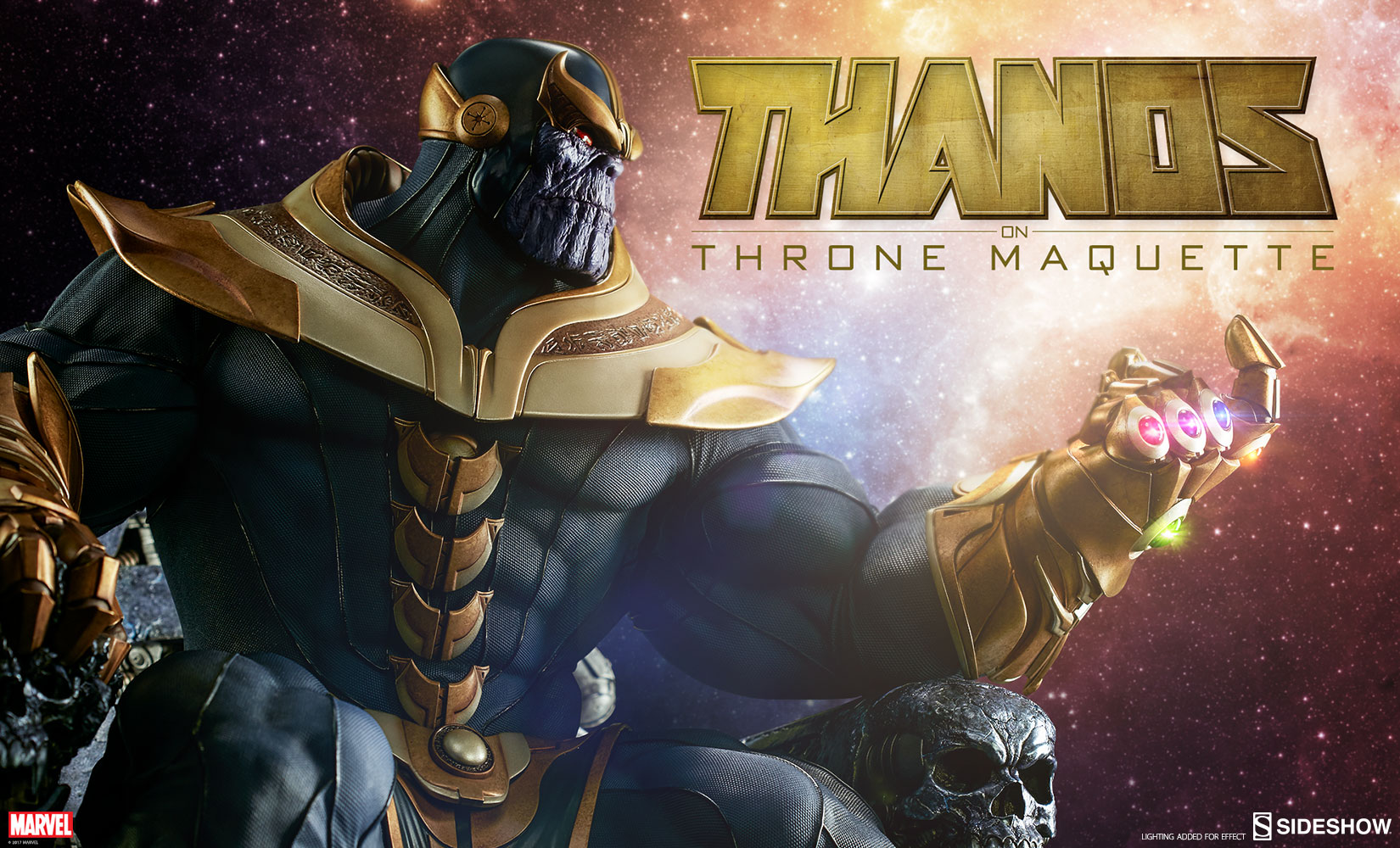 Thanos on Throne - Maquette by Sideshow Collectibles