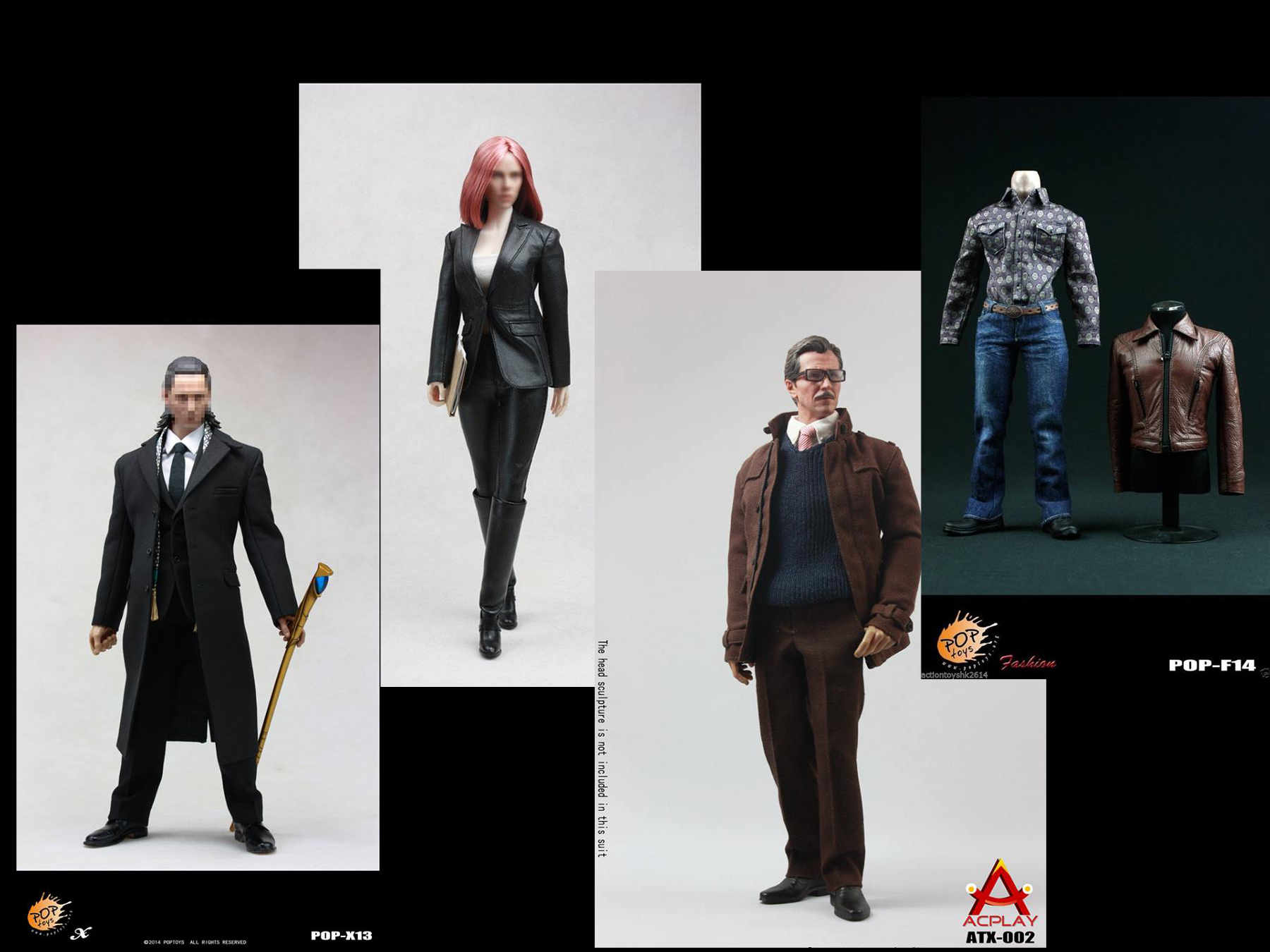 POPTOYS Wolverine Leather suit //Loki Windbreaker Suit // Spy Leather Suit // Gordon Coat suit
