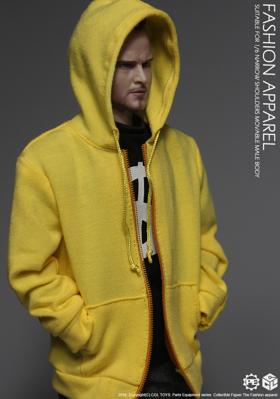 *Stop supply* CGLTOYS PE05 1/6 Yellow Hoodie Fashion Apparel Set