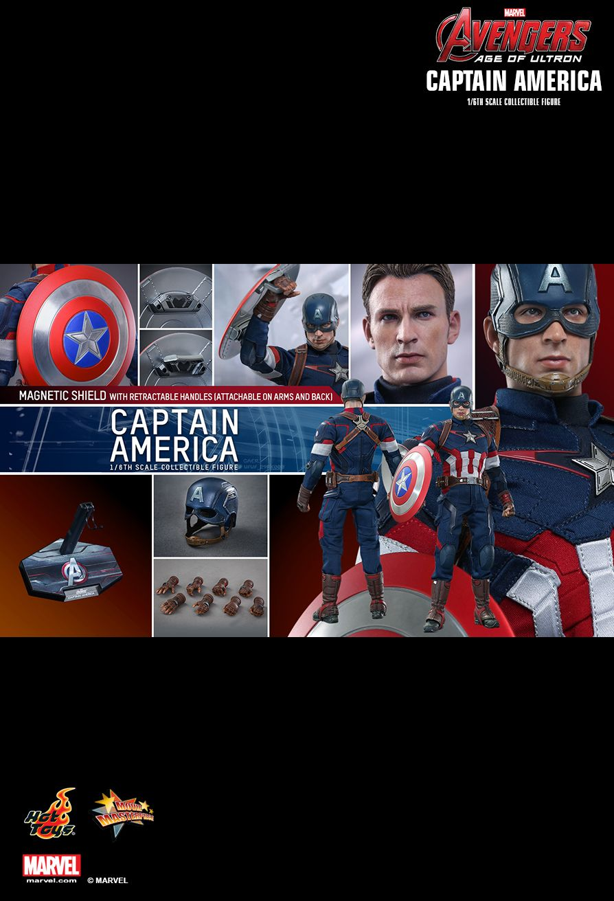 HOTTOYS MMS 281 Avengers: Age of Ultron - Captain America