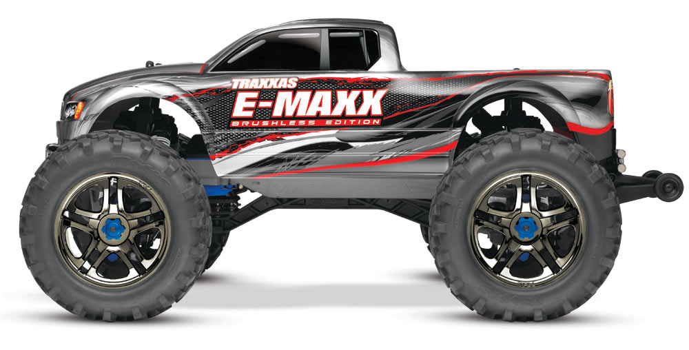 E-Maxx Brushless: 1/10 Scale Brushless Electric Monster Truck with TQi Radio System and Traxxas Link Wireless Module #39087-1