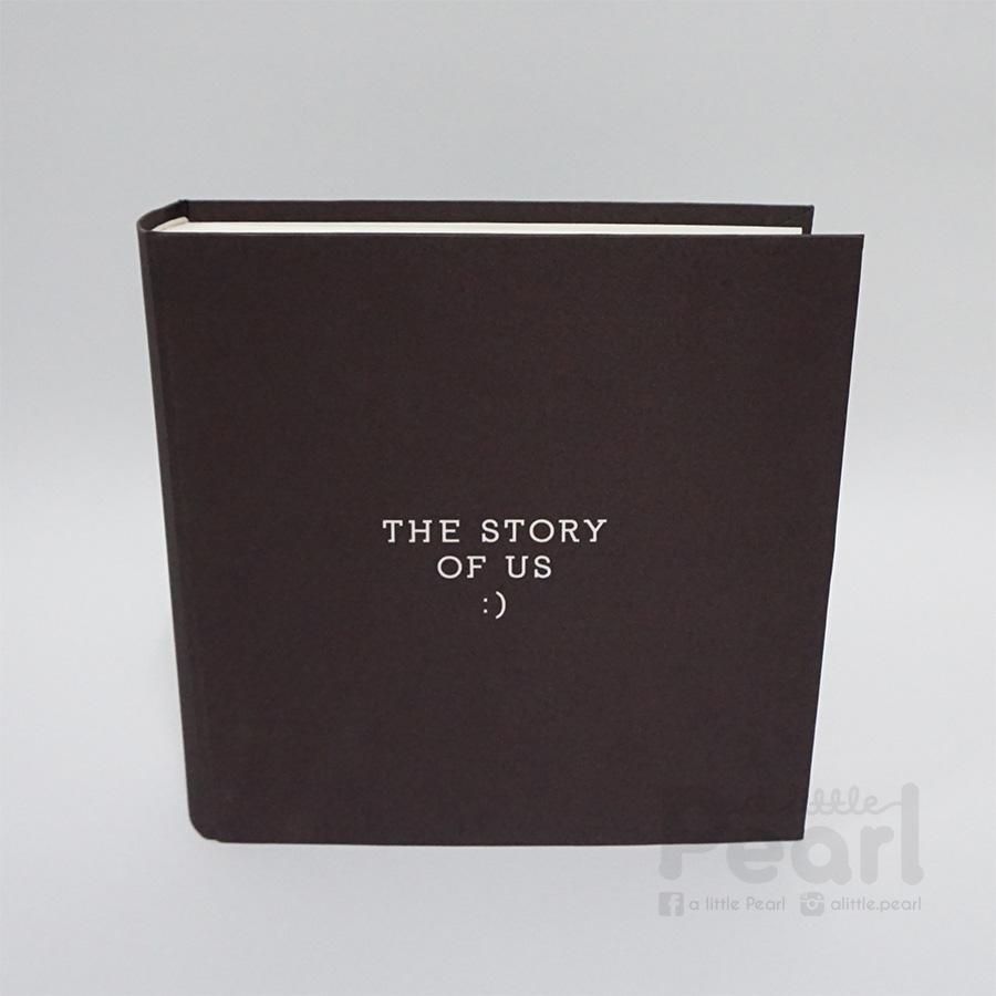 """อัลบั้ม 100 รูป (5x7"""") The story of us สไตล์มินิมอล สีน้ำตาลเข้ม"""