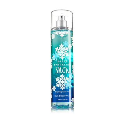 **พร้อมส่ง**Bath & Body Works Fresh Sparkling Snow Fine Fragrance Mist 236 ml. สเปร์ยน้ำหอมที่ให้กลิ่นติดกายตลอดวัน กลิ่นผลแพร์ผสมกับเมล่อน และแต่งปลายกลิ่นให้หอมนุ่มขึ้นด้วยกลิ่นมัคส์คะ ,