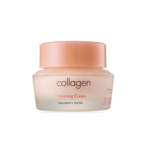 **พร้อมส่ง**It's Skin Collagen Voluming Cream 50 ml. ครีมบำรุงผิวหน้า ผสม Collagen ช่วยเสริมสร้างความแข็งแรงให้ชั้นผิวหนัง ลดเลือนริ้วรอยเหี่ยวย่นได้อย่างมีประสิทธิภาพ ผิวดูยืดหยุ่น กระชับอย่างเห็นได้ชัด ,