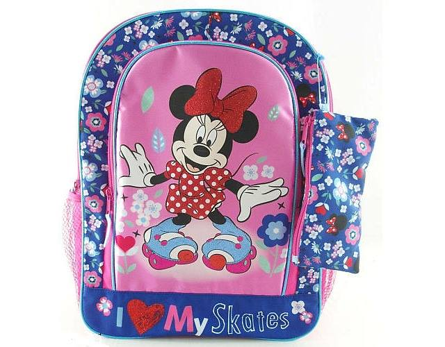 Minnie Mouse 16 inch Backpack - I Love My Skates