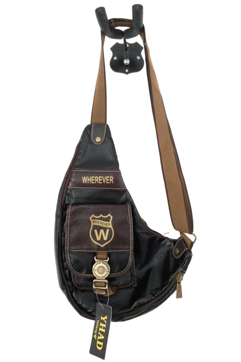 กระเป๋าสะพาย หนังPU สีดำ สุดชิ๊ค