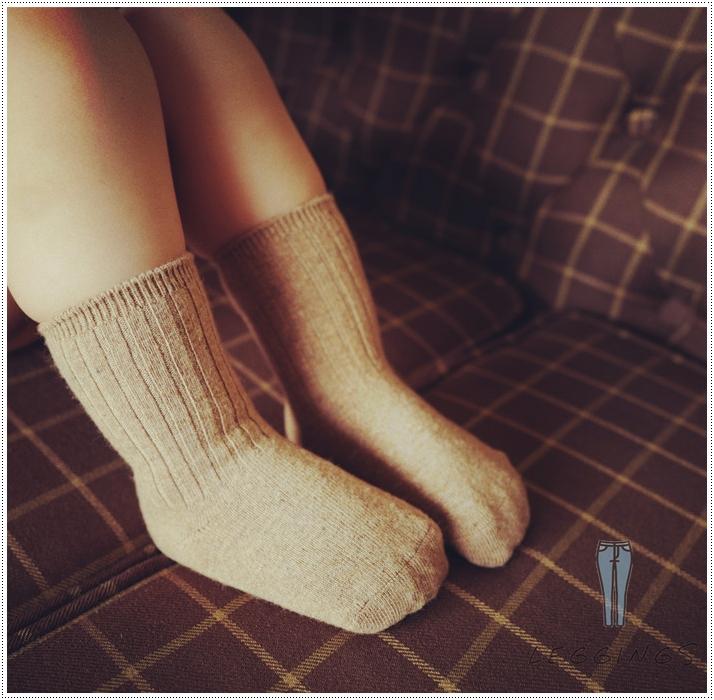 ถุงเท้าวูลขนสัตว์ ถุงเท้ากันหนาวสำหรับเด็ก มี 5 สี