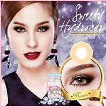 ขวัญ อุษามณี contact lens sweety plus mini hydrocor Brown hidrocor คอนแทคเลนส์ มินิ ไฮโดรคอร์