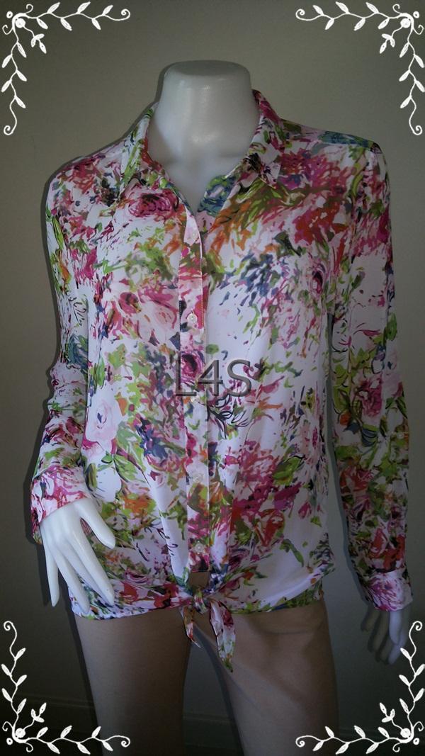 BN3808--เสื้อแฟชั่น ชีฟอง LIZ CLAIBORNE อก 40 นิ้ว