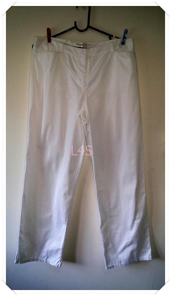 BNB1412-กางเกงผ้า สีขาว แบรนด์เนม liz claiborne เอว 32 นิ้ว