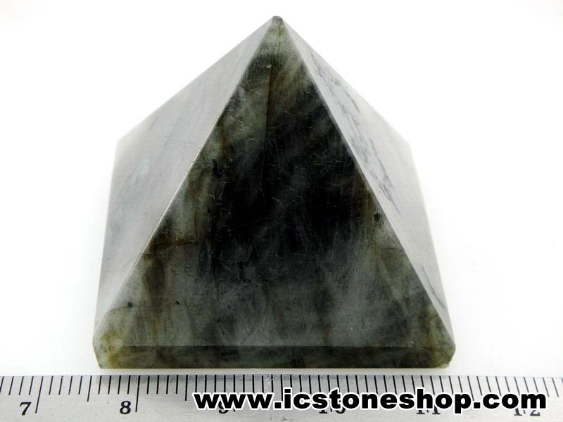 ▽หินทรงพีระมิค-ลาบราดอไลท์ Labradorite (56g)