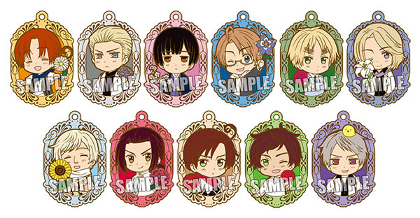 Hetalia The Beautiful World - Trading Rubber Strap 12Pack BOX(Pre-order)