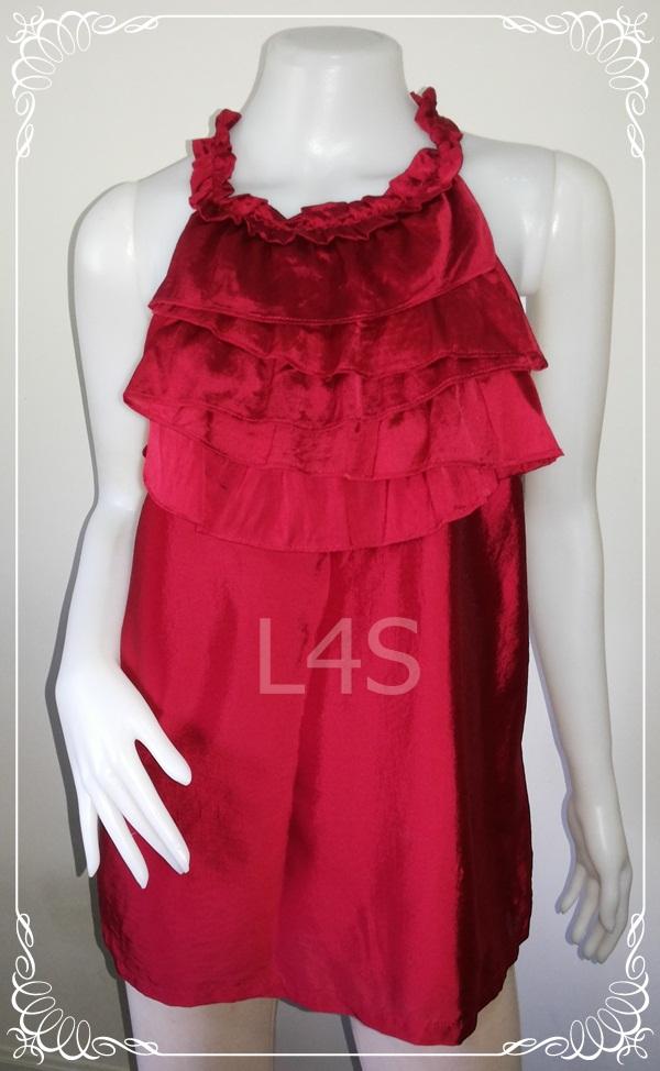 BN3630--เสื้อแฟชั่น นำเข้า สีแดง ALFANI อก 38 นิ้ว