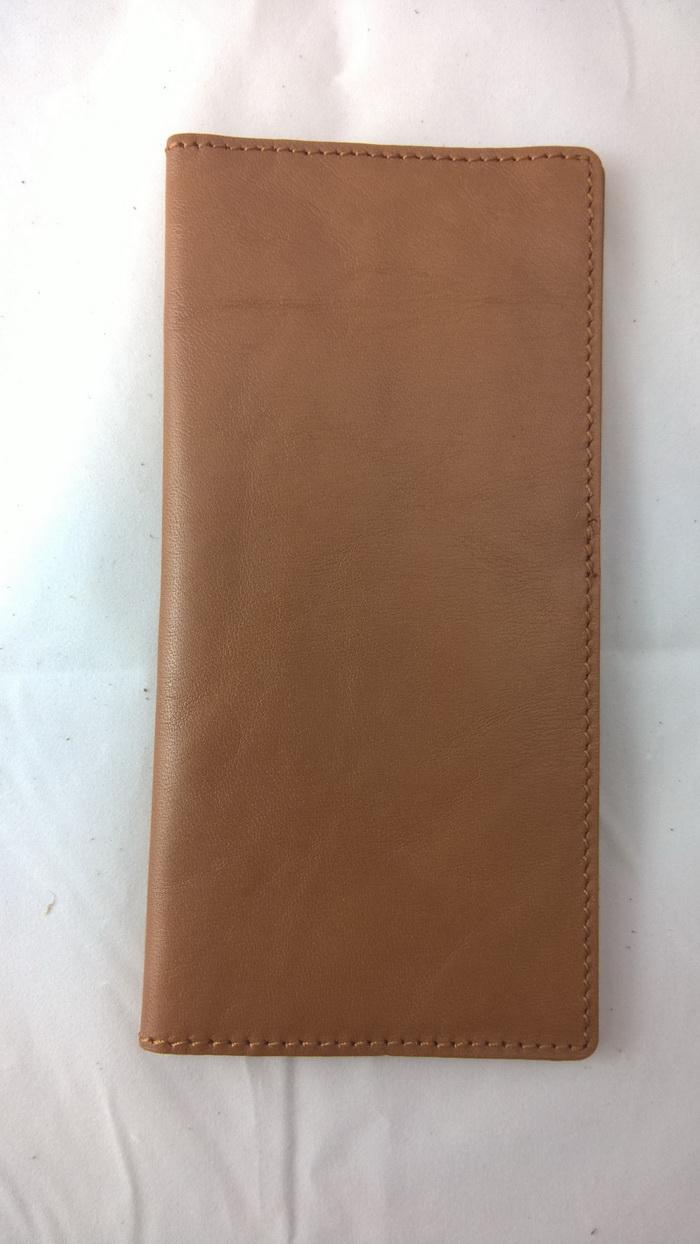 SW0035 กระเป๋าสตางค์ใบยาว หนังแท้ มือหนึ่งค้างสต็อก สีน้ำตาล
