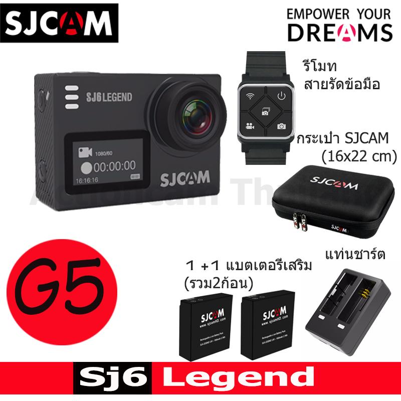 SJ6LEGEND + Battery +Dual Charger + Remote band + SJCAM Bag