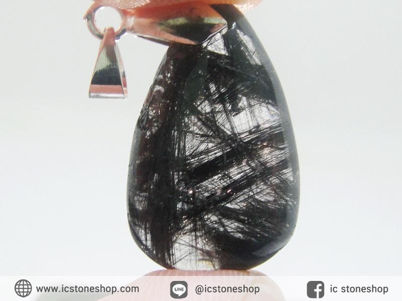 จี้ไหมดำ/แก้วขนเหล็ก (5.7g)