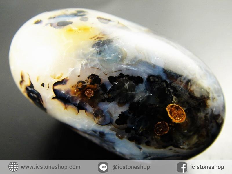 เดนไดทริก อาเกต Dendritic Agateขัดมันจากมาดากัสการ์ (37g)