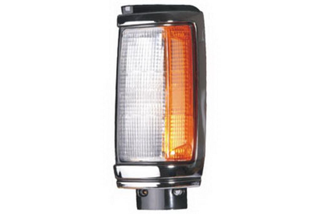 03-341 R/L Chrome/Black Side Direction Indicator, Front Position Lamp, Chrome/Black