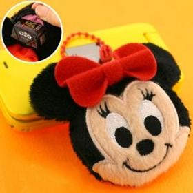 พวงกุญแจกระเป๋า Minnie Mouse ขนาดเล็กกระทัดรัด คุณสามารถใส่ของสำคัญ ใส่ลูกอมได้ด้วยค่ะ ใช้สำหรับห้อยกระเป๋า หรือห้อยมือถือ สินค้าสิขสิทธิ์แท้้