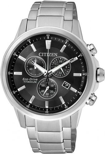 นาฬิกาข้อมือผู้ชาย Citizen Eco-Drive รุ่น AT2340-81E, Chronograph Super Titanium Sapphire