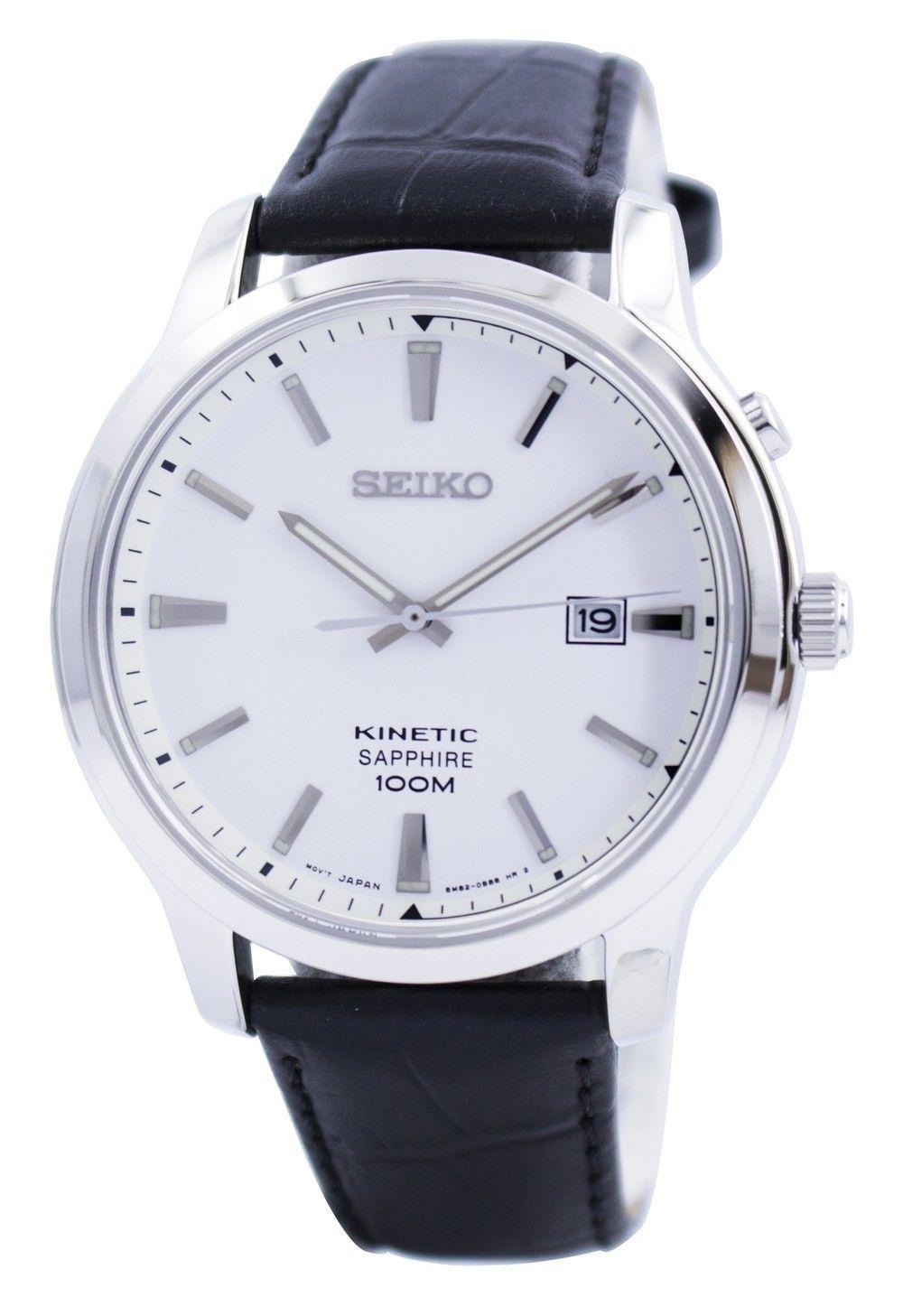 นาฬิกาผู้ชาย Seiko รุ่น SKA743P1, Kinetic Sapphire 100M Men's Watch
