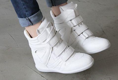 รองเท้าหนังหุ้มข้อสีล้วนแฟชั่นเกาหลี