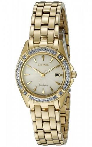 นาฬิกาผู้หญิง Citizen รุ่น EW2352-59P, Eco-Drive Silhouette Crystal