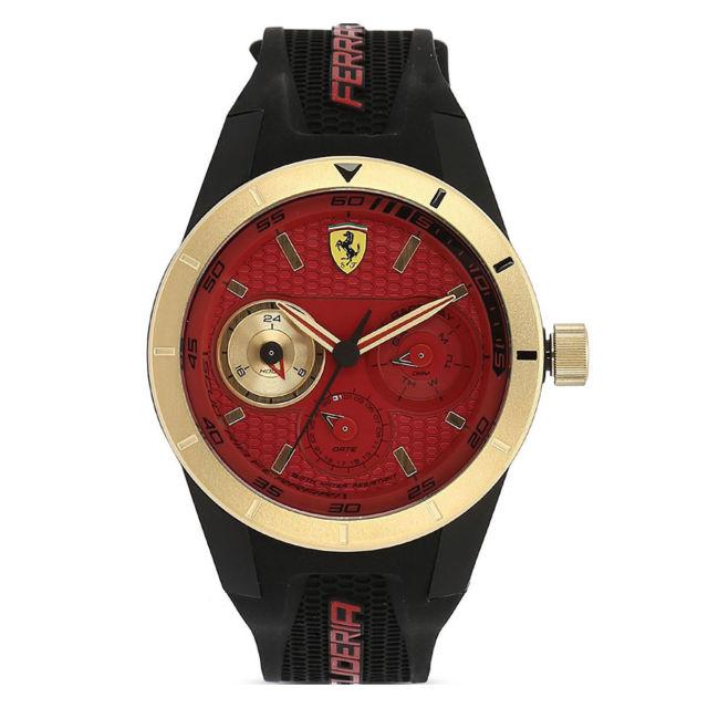 นาฬิกาผู้ชาย Ferrari รุ่น 0830386, Red Rev-T