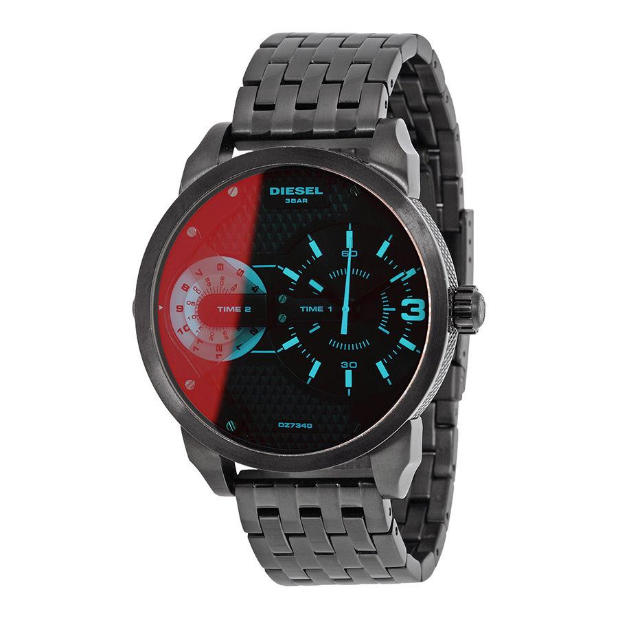 นาฬิกาผู้ชาย Diesel รุ่น DZ7340, Mini Daddy Black Ion-plated