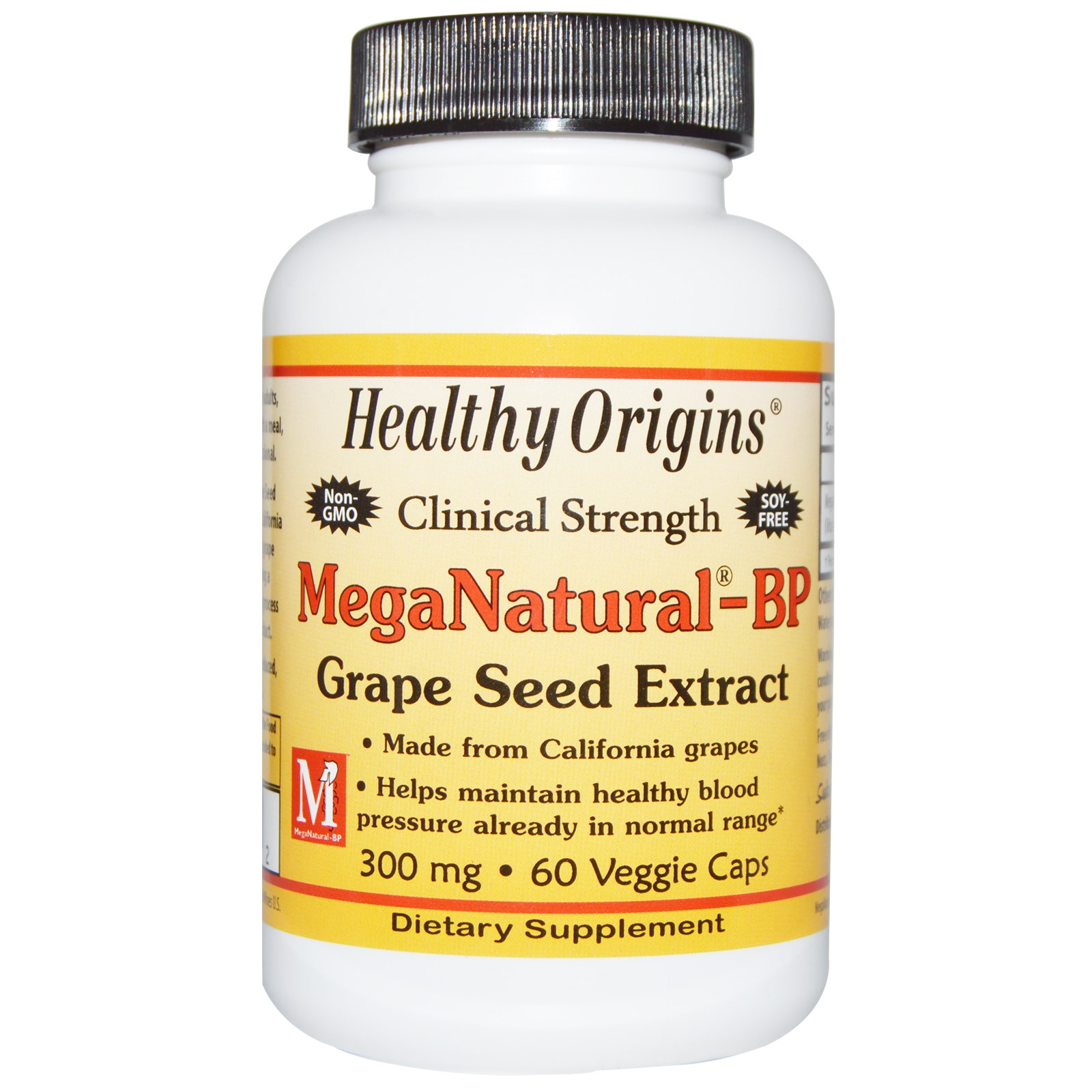 Healthy Origins, MegaNatural-BP Grape Seed Extract, 300 mg,Capsules 60
