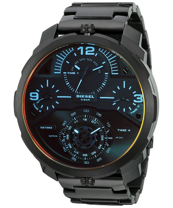 นาฬิกาผู้ชาย Diesel รุ่น DZ7362, Machinus Quartz Infrared Tinged 4 Timezone