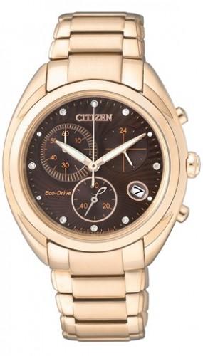 นาฬิกาข้อมือผู้หญิง Citizen Eco-Drive รุ่น FB1395-50W, Diamond Chronograph Sapphire